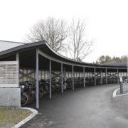 Florø Bygg sykkelparkering Flora VGS